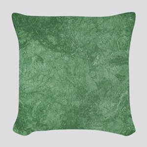 Sage Green Woven Throw Pillow